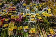 Ohmicho Ichiba Fish Market in Japan. Kanazawa, Japan - May 4, 2016 : Vegetable shop in Ohmicho Ichiba Fish Market in Kanazawa, Japan. It is the biggest fish Stock Images