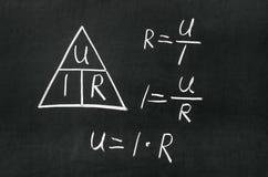 Ohms triangel för lag Royaltyfria Foton
