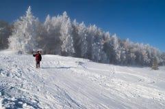 Ohne einen Skiaufzug Lizenzfreies Stockfoto