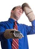 In Ohnmachter fallend Banker Lizenzfreie Stockbilder