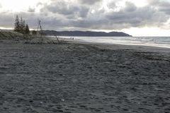Ohope Beach, NZL, At Dusk stock images