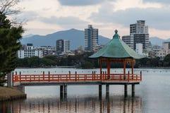 Ohori Park Pagoda Royalty Free Stock Photos