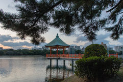 Ohori Park Pagoda Royalty Free Stock Photo