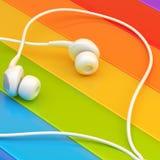 In-Ohr-Kopfhörer-Zusammensetzung stock abbildung