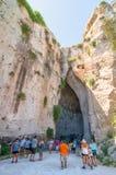 Ohr von Dionysius in Siracusa, Sizilien, Italien Stockbilder