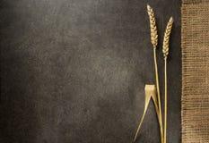 Ohren des Weizens auf Holz Lizenzfreies Stockfoto