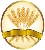 Ohren des Weizens und der Farbbänder. Stockbild