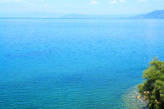 Ohrid湖在夏天 免版税库存图片