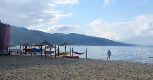 Ohrid湖,阿尔巴尼亚 图库摄影