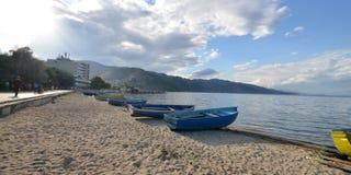 Ohrid湖,阿尔巴尼亚 库存照片