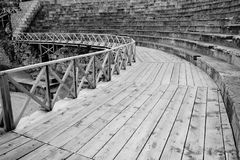Ohrid Amphitheater in Black and White stock images
