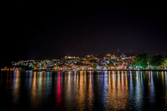 Ohrid bis zum Nacht Stockfotografie