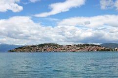 Ohrid city and lake landscape Macedonia summer Stock Photo