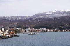 Ohrid city and Lake Ohrid Stock Image