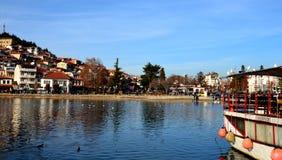 ohrid de la Macédoine de lac Images stock