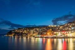 Ohrid en la noche Fotos de archivo