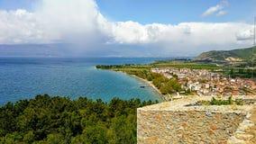 Ohrid en meer Royalty-vrije Stock Foto