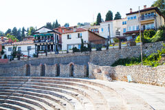 Ohrid gammal amfiteater Royaltyfri Bild