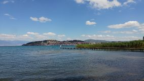Ohrid jezioro i plaże zdjęcia royalty free