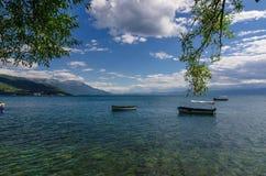 Ohrid jezioro i plaże zdjęcie royalty free