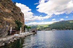 Ohrid jezioro i plaże fotografia royalty free