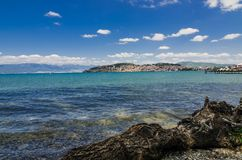Ohrid jezioro i plaże obrazy stock