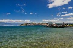 Ohrid jezioro i plaże zdjęcie stock