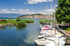 Ohrid jezioro i plaże obrazy royalty free