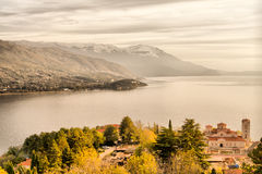 Ohrid Lake, in Ohrid Macedonia. Ohrid Lake in Ohrid Macedonia Stock Photos