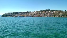Ohrid lake. And the city Royalty Free Stock Images