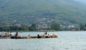 Ohrid Lake and City,Macedonia Royalty Free Stock Photography