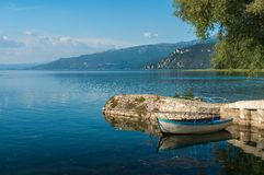 Ohrid lake in Macedonia Royalty Free Stock Images