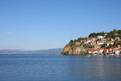 Ohrid lake Macedonia. Summer season Royalty Free Stock Images