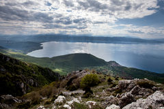 Ohrid, lake Macedonia, A view to lake Ohrid from a mountain. Stock Images