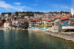 Ohrid lake and old town, Macedonia Royalty Free Stock Photography