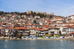 Ohrid lake and old town, Macedonia Stock Images
