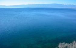 Ohrid laken royaltyfri fotografi