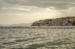 Ohrid, Macédoine - panorama photographie stock libre de droits
