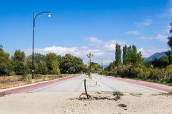 Ohrid, Macedonië, in aanbouw stock afbeelding