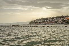 Ohrid, Macedonië - Panorama royalty-vrije stock fotografie