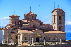 Exterior view of St. Panteleimon in Ohrid, Macedonia. Stock Image