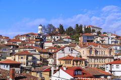 Generic architecture of Ohrid town in FYR Macedonia stock images