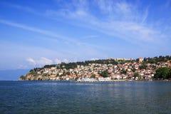 Ohrid in Macedonia. Ohrid is on coast lake Ohri in Macedonia Royalty Free Stock Photography