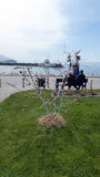 Ohrid, Macedonia, on Easter.Egg tree in a park Stock Image