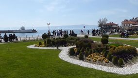Ohrid, Macedonia, on Easter.The park stock video