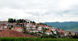 Ohrid - Macedonia. Looking to the old part of Ohrid Royalty Free Stock Images