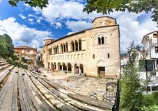 Ohrid, Macedonia, Panorama of Church Saint Sophia in Ohrid Stock Photos