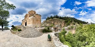 Ohrid Macedonia Panorama of Church of St. John Kaneo Royalty Free Stock Photography
