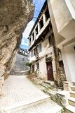 Ohrid, Macedonia - traditional street alley passage with old house architecture Stock Photo