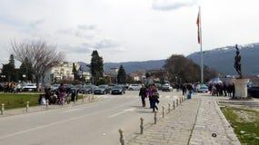 Ohrid, Mazedonien, auf Ostern Eingang auf Jachthafen Stockfoto